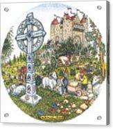 Castle Cross Circle Acrylic Print