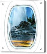 Castle Geyser Portholes Acrylic Print