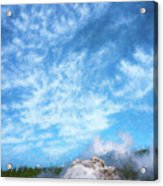 Castle Geyser Yellowstone Np Photo Painting_grk7577_05262018 Acrylic Print