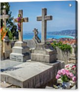 Castle Hill Graves Overlooking Nice, France Acrylic Print