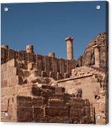 Castle In Petra Acrylic Print