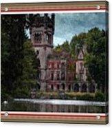 Castle Kapadia. L B With Decorative Ornate Printed Frame. Acrylic Print
