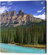 Castle Mountain Banff The Canadian Rockies Acrylic Print