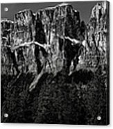 Castle Mountain Panoramic Acrylic Print