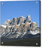 Castle Mountain Winter Acrylic Print