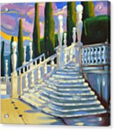 Castle Patio 1 Acrylic Print by Milagros Palmieri