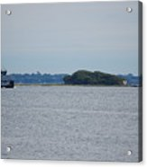 Castle Pinckney And Boat Acrylic Print