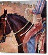 Castle Rock Buckaroo Western Cowboy Painting Acrylic Print