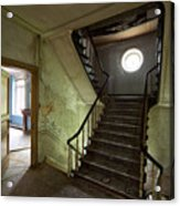 Castle Stairs - Abandoned Building Acrylic Print