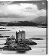 Castle Stalker - D002192bw Acrylic Print