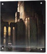 Castle Sunset Acrylic Print