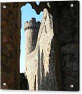 Castle Tower Thru Window Acrylic Print