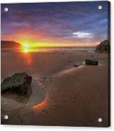 Caswell Bay Sunrise Acrylic Print