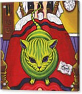 Cat - Alien Abduction Acrylic Print