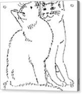 Cat-art-curious Acrylic Print