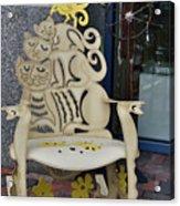Cat Chair Acrylic Print
