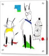 Cat, Dog, Hydrant Acrylic Print