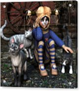 Cat Girl Acrylic Print