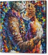 Cat Hug   Acrylic Print