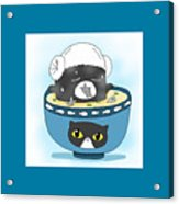 Cat In Food Acrylic Print