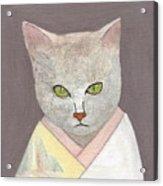 Cat In Kimono Acrylic Print