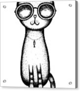 Cat In The Glasses Acrylic Print