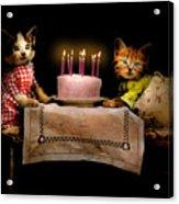 Cat - It's Our Birthday - 1914 Acrylic Print