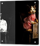 Cat - It's Our Birthday - 1914 - Side By Side Acrylic Print