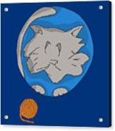 Cat Planet Acrylic Print