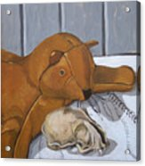 Cat Skull And Toy Cat Acrylic Print