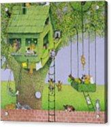 Cat Tree House Acrylic Print