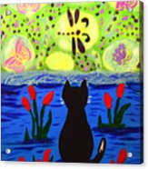 Cat Tv  Watching Bugs Acrylic Print
