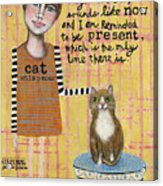 Cat Whisperer Acrylic Print