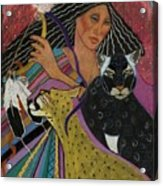 Cat Woman From Palenque Acrylic Print