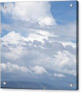 Catamaran Beach Clouds Acrylic Print