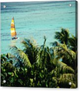 Catamaran On Tumon Bay Acrylic Print