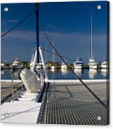 Catamaran Ready To Sail Acrylic Print