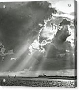 Catboats Sailing In Barnstable Harbor Acrylic Print