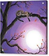 Catch A Falling Leaf Acrylic Print