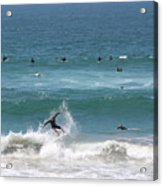 Catching Air In Huntington Beach California Acrylic Print