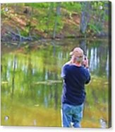 Catching Fish Acrylic Print