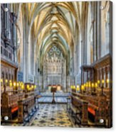 Cathedral Aisle Acrylic Print