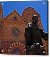 Cathedral Basilica In Santa Fe Acrylic Print by Susanne Van Hulst