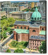 Cathedral Basilica Of Saints Peter And Paul Philadelphia  Acrylic Print