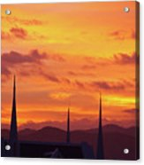 Cathedral Church Sunset Acrylic Print