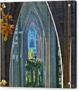 Cathedral Columns Of The St. Johns Bridge Acrylic Print