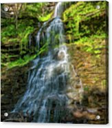 Cathedral Falls - Paint Acrylic Print
