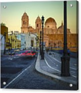 Cathedral From Campo Del Sur Cadiz Spain Acrylic Print