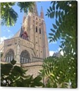 Cathedral In Brugge Acrylic Print