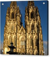 Cathedral In Cologne  Acrylic Print